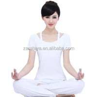 2014 China design new fashion and high quality sexy white women gym yoga wear tank top