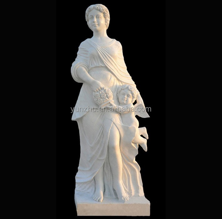 carved white marble ladi beautiful woman sculpture for home decoration cheap and good quality
