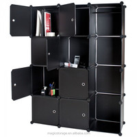Fashionable DIY office 12 cubes plastic storage cabinet