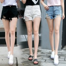New Trendy Sexy Women Tight Denim Jeans Shorts with Holes Design for Different Color