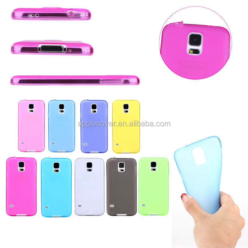 Hot selling Clear 1mm transparent TPU cell phone Case for Samsung S5 i9600, for Samsung S5 case cover