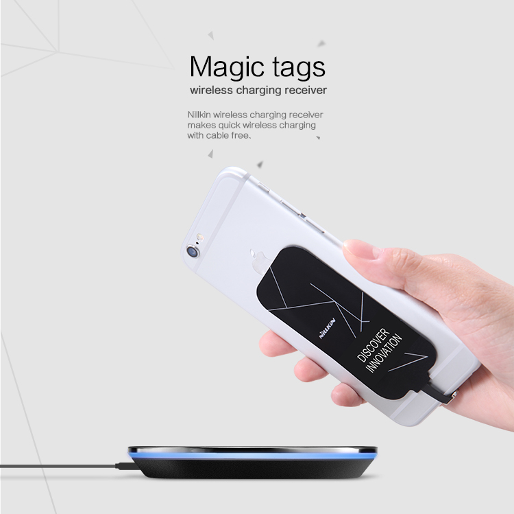 Functional Nillkin Magic Tags Wireless Charging Receiver for Micro, iphone and Type C