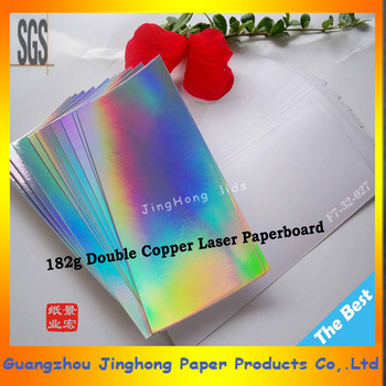 182g Holographic Laser Metallic Paper/Fresh laser card