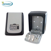 Custom 4 Digital Wall Mount Metal Min Combination Key Safe Storage Lock Boxes for Outdoor