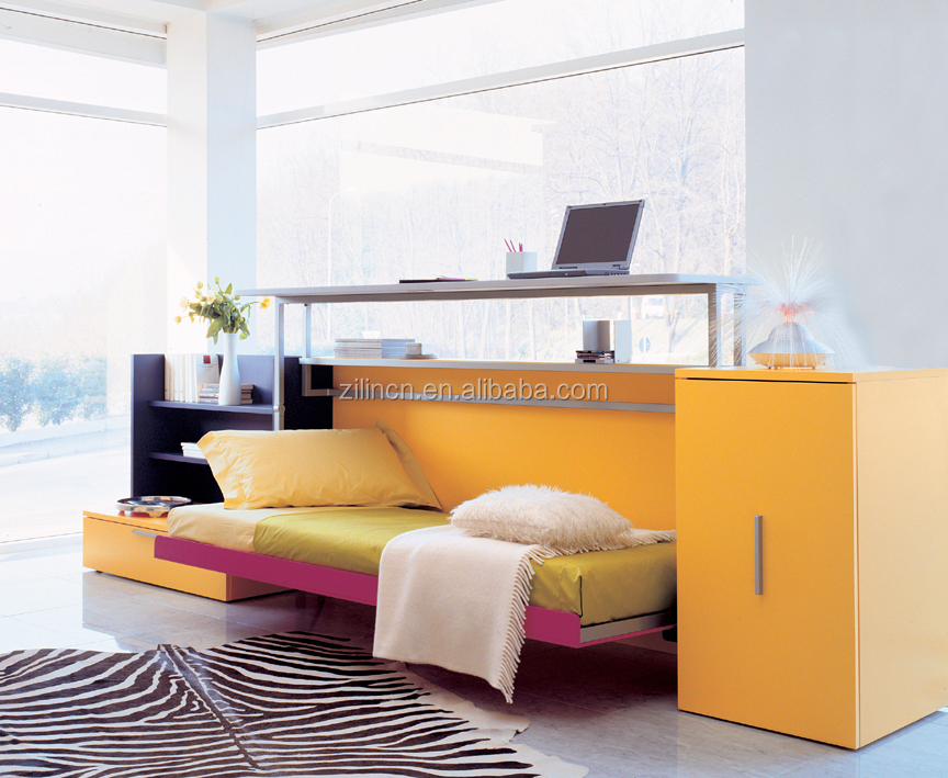 High quality home furniture design wall bed,wall bed with desk,horizontal wall beds