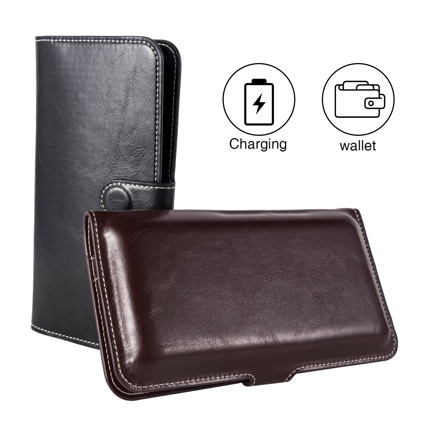 New products Real cowhide rohs wireless power bank wallet purse 6000mah universal power bank - idealPower | idealPower.net