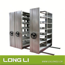 Bank & Information Rooms & Libraries Easy Operate Mobile Shelves System/ Intelligent Metal Compact Mobile Shelving/ Steel Mass S