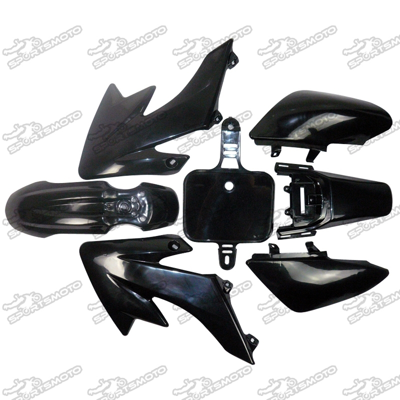 48HOURS SHIPPING China Dirt Pit Bike CRF50 Body Plastic Fairing Kits Black