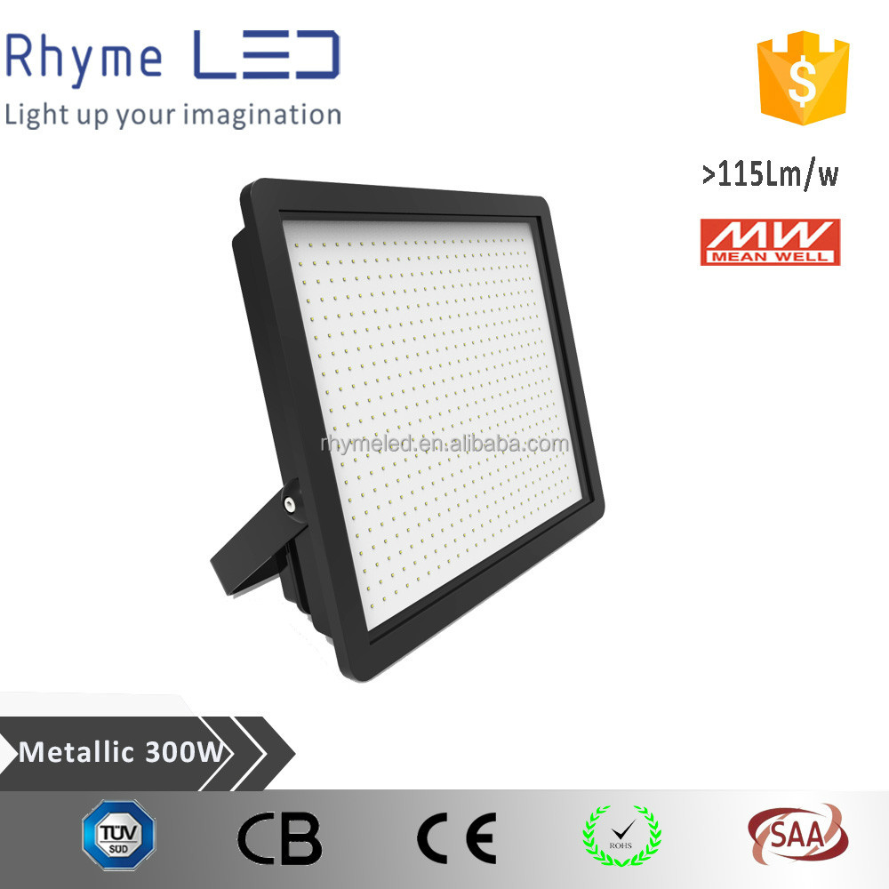 MEANWELL power and Top quality IP65 300W LED Floodlight for outdoor