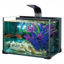 19L float glass material transparent LED fish tank