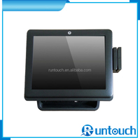 Runtouch RT-6700A Cost effective 15inch POS Cash Register for Supermarket with MSR and customer display, Supports Dual Screen