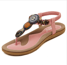 X85632A summer latest bohemia ladies woman flat sandals shoes
