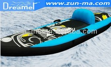 Popular single seater towable inflatable jet boat tube kayak