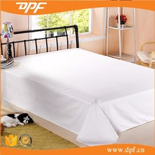 DPF hotel use 100% white cotton bed sheet set