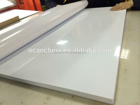 glossy/matt white opaque rigid pvc sheet for offset printing /printing/silk-screen printing