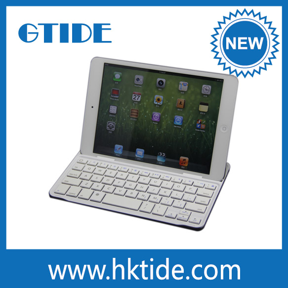 Gtide KB656 aluminum cover wholesale mini bluetooth 3.0 keyboard cover for ipad mini