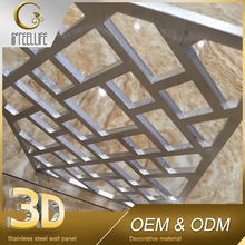 Oem Custom Shop Indoor Luxury Laser Cut Stainless Steel Interior Decoration