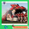PVC cheap inflatable rugby toy tunnel rental baseball inflatable sports tunnel for sale