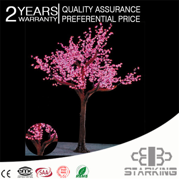 Outdoor decoration landscape cherry flower artificial ditch reed led tree light