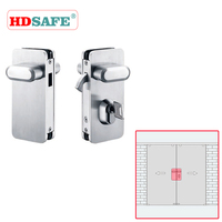 stainless steel sliding security door lock with keys SA8600A-13E2 & SA8600A-13E1