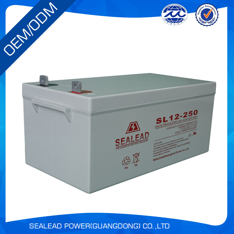 lead acid AGM 12V 200AH rechargeable solar battery from china factory