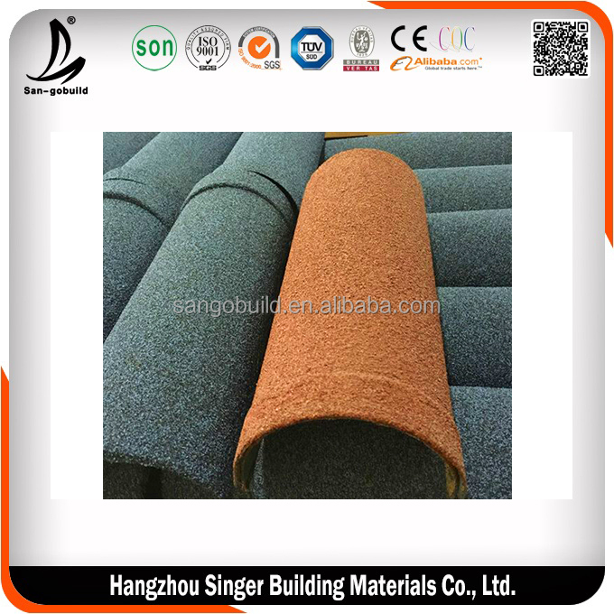 Stone Coated Shingle Types of Roof Covering Sheets, Korea Quality Black Color Roof Sheets