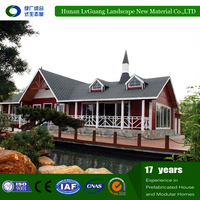 Hot selling WPC light gauge house,quick assembly prefab house design bungalow,high quality prefab well house