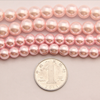 fashion pearl jewelry,20mm round glass beads,pink glass pearl