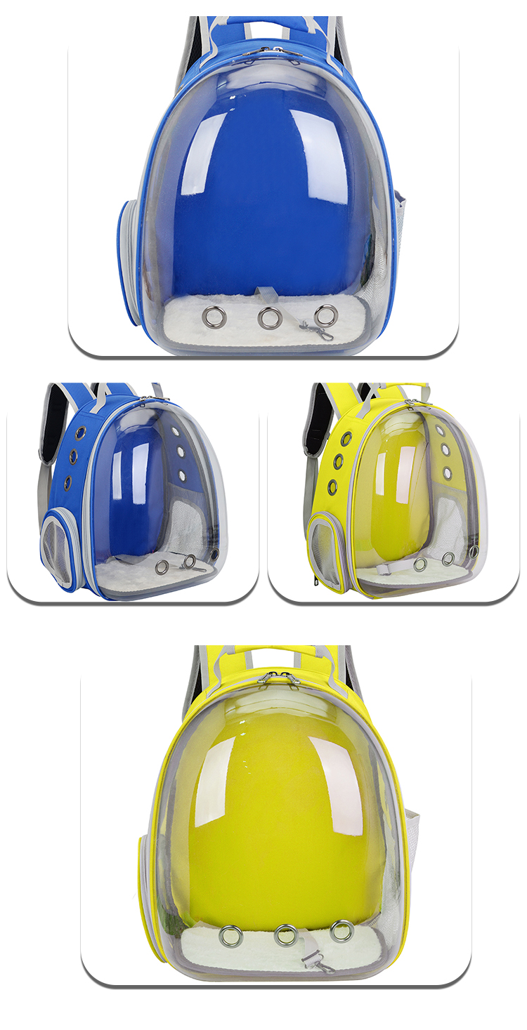 Customized Outdoor Portable Transparent Breathable pet backpack PC space capsule pet cat dog travel backpack