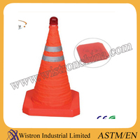 High Quality Solar Warning Light Portable Retractable Traffic Cone
