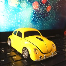 Cute Design 2.4G Car Shape Beetle Wireless USB Mouse