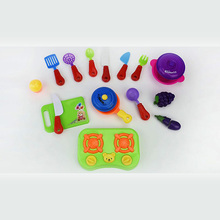 Kids Favourite Plastic Happy Kitchen Toy Pretend Play Set With High Quality