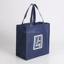 Wholesale recycled custom printing grocery foldable roll up shopping bag
