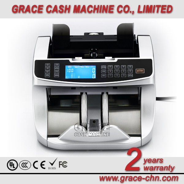 Banknote Counter with UV, MG, IR, MT, 3D and VALUE detection function/ Fake Money Detector Cash Counting Machine GFC-350