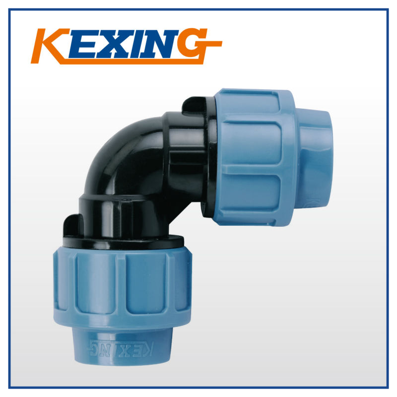 3001 NINGBO KEXING BULE GREEN COLOR PN16 PN10 GOOD MATERIAL Elbow PP Compression <strong>Fittings</strong>