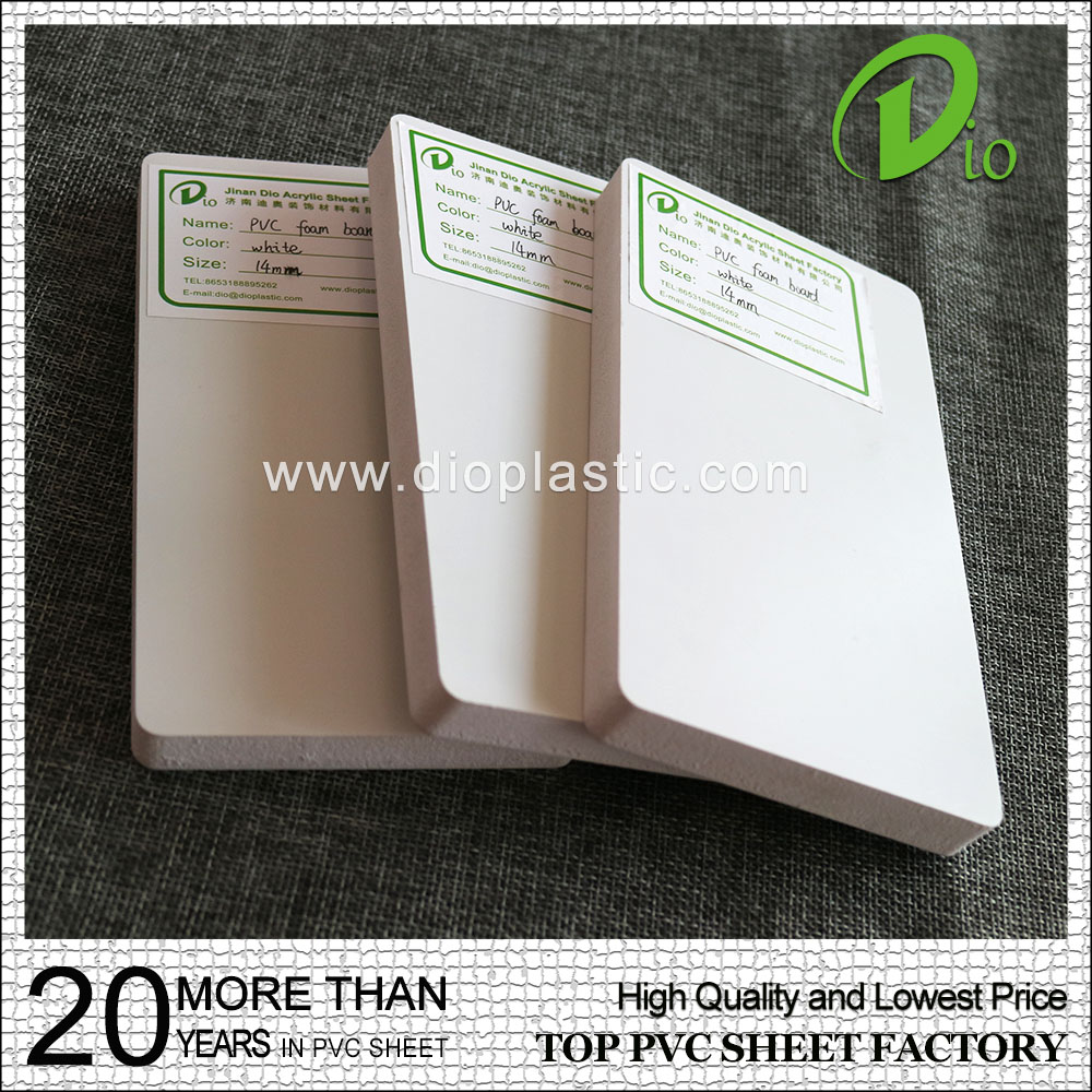 high quality DIO plastic 18mm 20mm white pvc foam sheet price