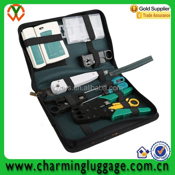 11 in Professional Networking Repair Tool Kit Toolbox computer tool bag