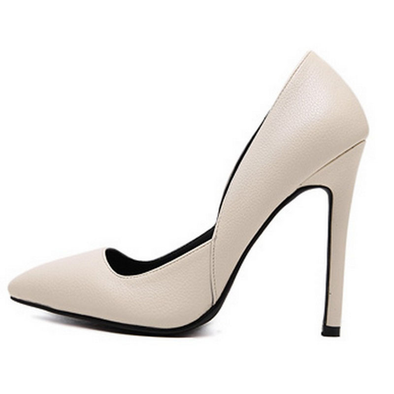 SAA40190 Women's pointed toe 11cm high stiletto heel mature shoes