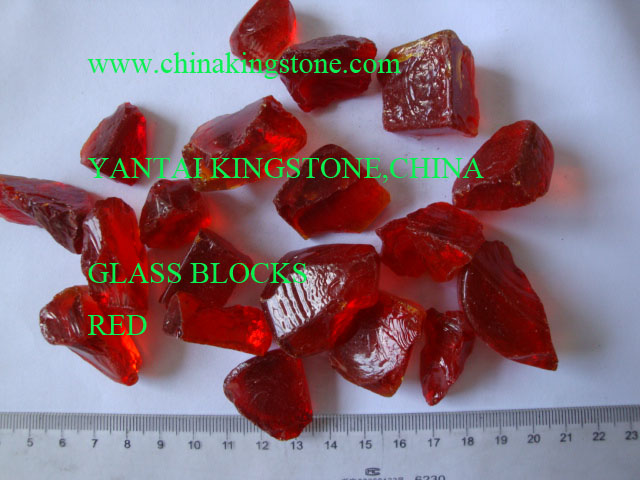 2018 new deep red building glass dome,opaque building glass for terrazzo