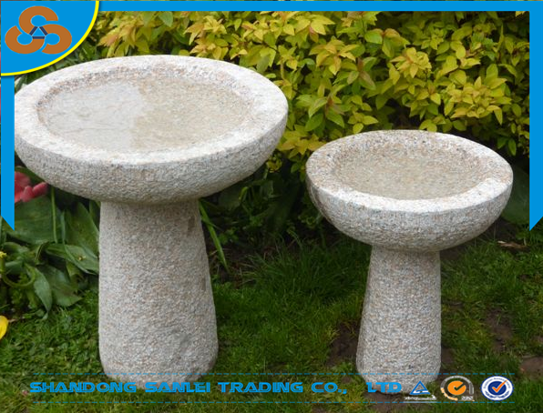 garden ornamet natural stone birdbath carving for sale