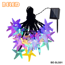 IP65 Outdoor Christmas Ornaments Holiday Lighting Solar Star String Lights With 30 LED