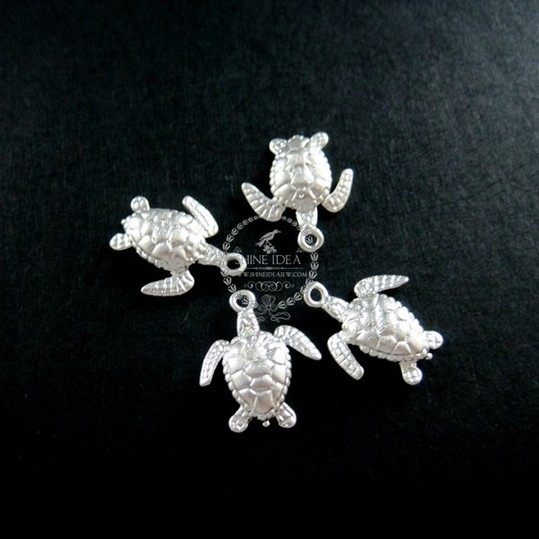 13x18mm matte silver sea turtle ocean animal DIY pendant charm jewelry supplies 1820097