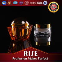 Wholesale High End Shiny Color Acrylic Cosmetic Jar Empty Cosmetic Container