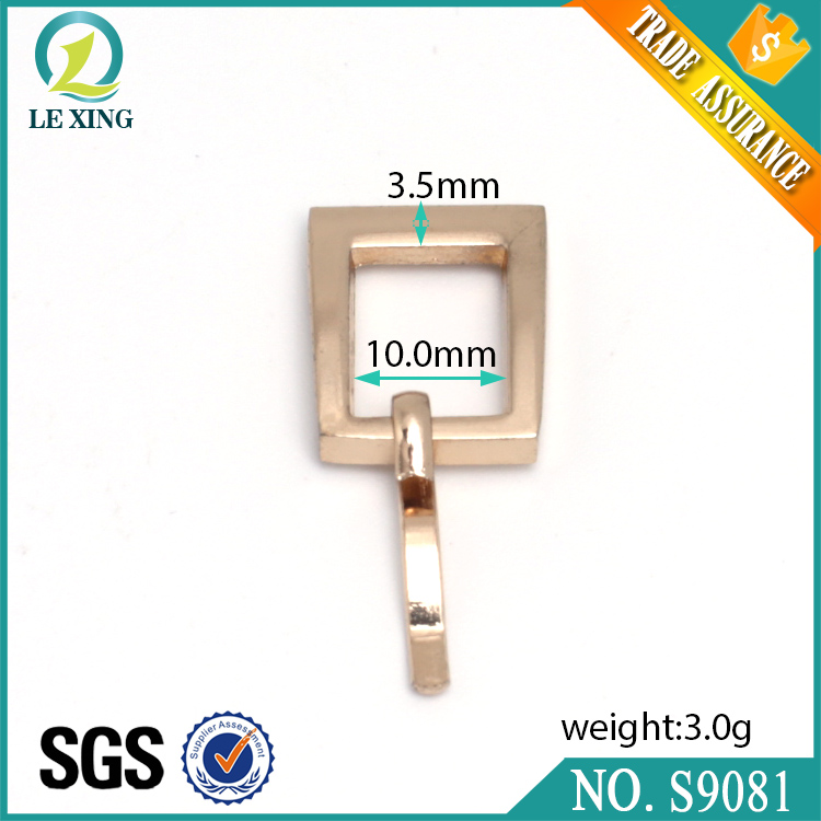 Wholesale factory price fashion 10mm light gold watch accessory buckle