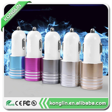 Plastic 2 port usb car charger 5v/2v colourful 5v 2a and 1a output dual port car usb battery charger made in China