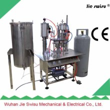 factory sale Semi-Automatic automatic aerosol filling machine for victoria secret body spray