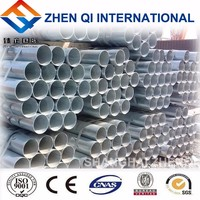 Fire resistant galvanized round steel pipe