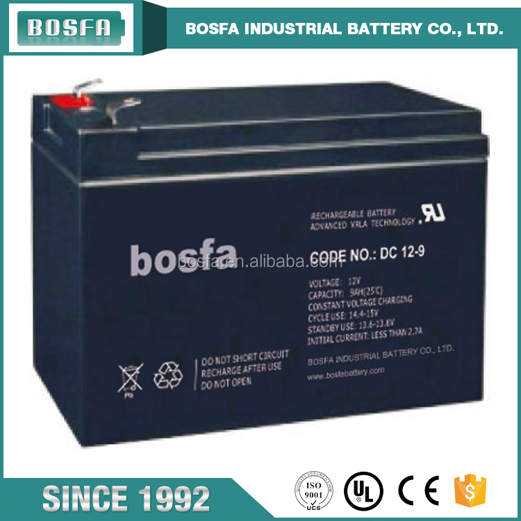 wholesale high quality industrial battery deep cycle vrla 12v 9ah lead acid battery