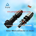 MC4 solar waterproof conector for solar power system, PPO housing , IP67