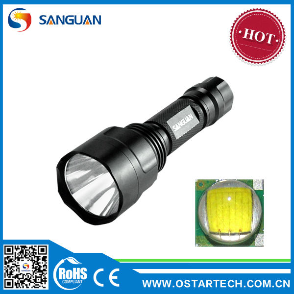 SG-C8T6 Cree T6 LED Rechargeable Lamp Flashlight For Hunting With Gun Mount and Remote Pressure Switch
